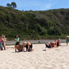 Workshop in the soft sand