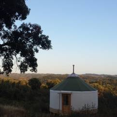 Small yurt on the land