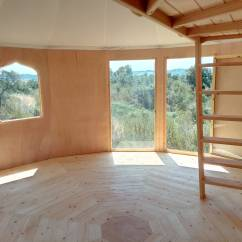 Our dance space, wooden yurt